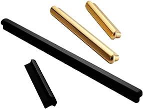 Subobo deurkruk, koperen kleur kabinet handvat moderne minimalistische garderobe gouden deur handvat Pack van 10 zwart hui...