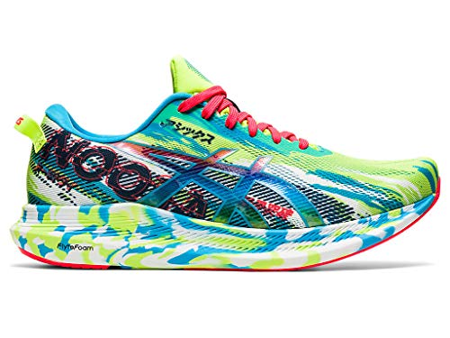 ASICS Men's Noosa Tri 13 Running Shoes, 7M, Hazard Green/Digital Aqua