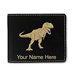 4. SkunkWerkz Personalized Faux Leather Tyrannosaurus Rex Wallet