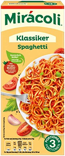 Miracoli Fertiggerichte Klassiker Spaghetti, 3 Portionen, 20 Packungen (20 x 380g)