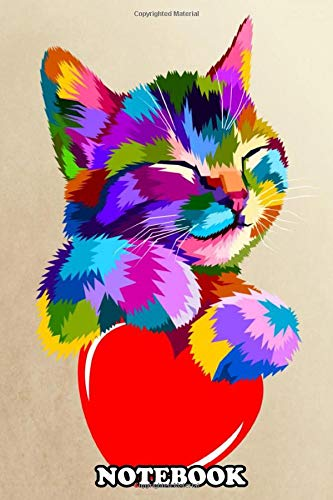 Notebook: The Smiling Cat Hug The Heart Of Love , Journal for Writing, College Ruled Size 6