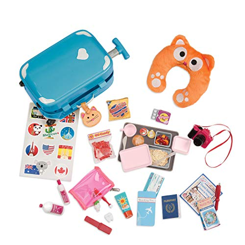 Our Generation BD37157Z Well Travelled Luggage Set Doll Accessories, Various