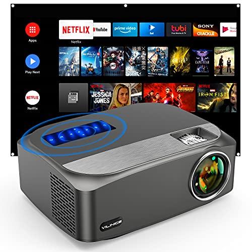 Vidéoprojecteur Vili Nice Native 1080P Full HD , Compatible avec projecteur 4 K LED , Pour l'extérieur , 300' , Compatible avec HDMI...