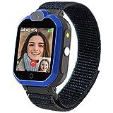 PTHTECHUS Reloj-Smartwatch 4G con GPS instantáneo & Videollamada Infantil y Juvenil. WiFi, Bluetooth, Voz Chat, cámara, Podómetro, Música, Llamadas, SOS, Impermeable IPX7 Reloj Inteligente niño, Azul