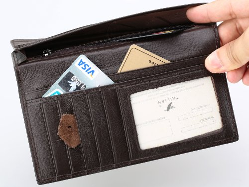 Slim Buckle Wallet UCANDO Magic Style RFID Blocking Card Holder with Zipper Around for Men and Women