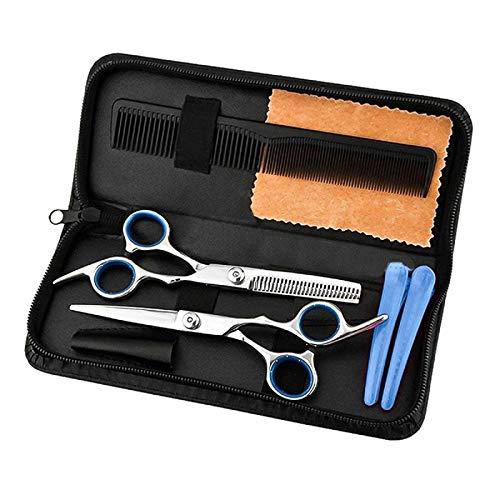 FAMKIT Juego de corte de pelo, tijeras profesionales de peluquería para salón y hogar