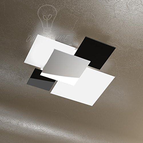 Lampada Lampadario Moderno Top Light 1088 70 Ne Vetri Bianchi Neri Cucina Soggiorno Sala Camera Cameretta Amazon It Illuminazione