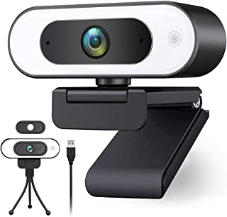 USB Web Cam Light,Streaming 1080p Webcam for PC Ring Light Webcam with Microphone for Desktop HD 1080p Web Camera for Call...