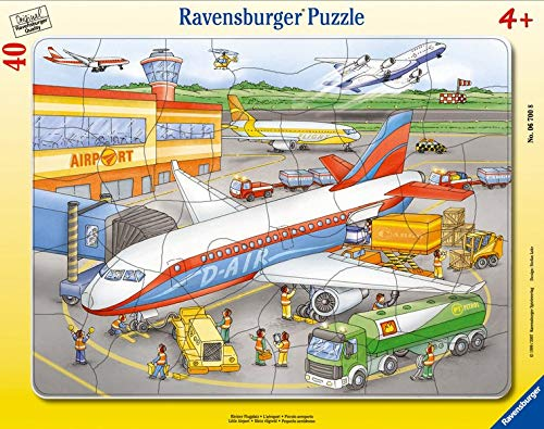 Ravensburger Kinderpuzzle 06700 - Kleiner Flugplatz - Rahmenpuzzle