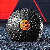 METIS Slam Ball Balones Lastrados 3kg – 20kg | Balones Medicinales de Bajo Rebote para Entrenamiento de Fuerza Central y Musculación | Balón de Fitness para Gimnasio en Casa (20 KG)