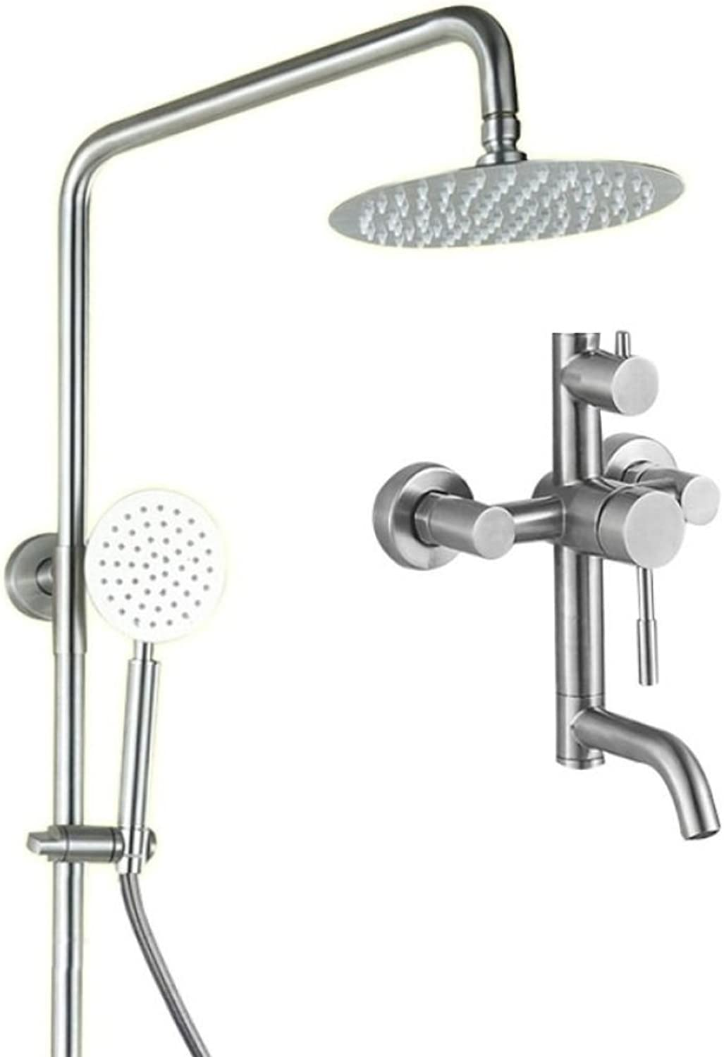LyMei Bathroom Shower System Faucet Set Stainless steel Handheld Showerheads Rainfall Waterfall Shower Head Silicone Nozzles