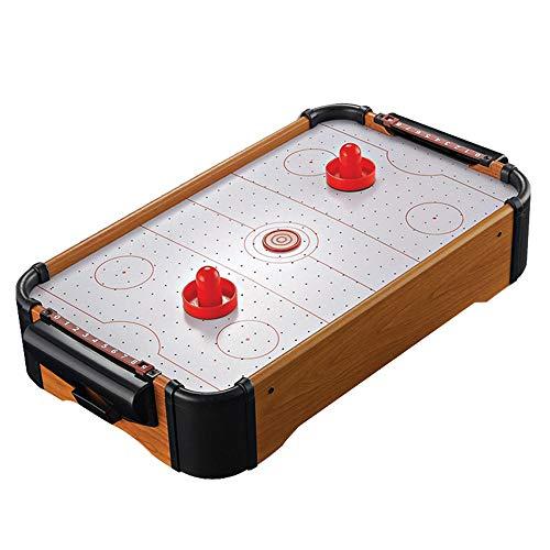 Luorizb Mini Arcade Air Hockey Table- EIN Spielzeug for Mädchen und Jungen von Fun Table- Top-Spiel for Kinder, Jugendliche und Erwachsenen-Batteriebetriebene (22 Zoll)