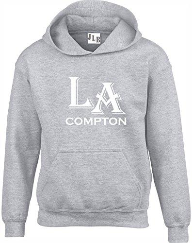 JLB Print La Compton Gangsa Rap Film Inspiriert Hochwertige Unisex Hoodies fur Manner Frauen und Jugendliche - Grau/5X Groß