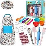 Cozywind 30psc Conjunto De Juego Chef Juguetes de Cocina Infantil Delantal De Cocina Con Utensilios Para Niñas