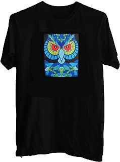 Sound Activated Shirt EDM Owl LED Shirt Light Up T-Shirt