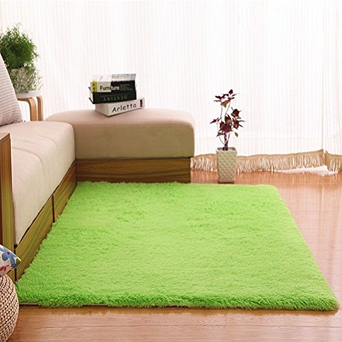 LUSON Tapis lavable salon canapé table basse chambre à coucher tapis (Color : Green, Size : 160X200CM)