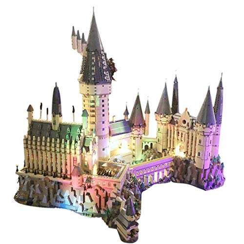 POXL Conjunto de Luces LED para (Harry Potter Castello di Hogwarts) Construcción de Bloques - Juego de Luces Led Compatible con Lego 71043 (Lego Set No Incluido)