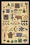 Minecraft Poster Pictograph (66x96,5 cm) gerahmt in: Rahmen