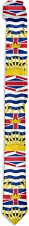Men`s British Columbia Canada Flag Novelty Necktie Formal Skinny Tie For Wedding Prom Party