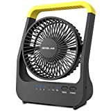OPOLAR D-Cell Battery Operated Desk Fan with Timer, Portable Camping Cooling Fan with Strong...