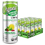 Organic Energy Drink by Dark Dog– Original 12 Oz (12 Count) Powerful Organic Caffeine From Green...