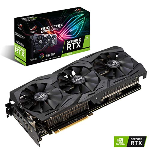 ASUS ROG STRIX NVIDIA GeForce RTX 2060 6G Gaming Grafikkarte (PCIe 3.0, 6GB GDDR6 Speicher, HDMI, Displayport, USB Type-C)