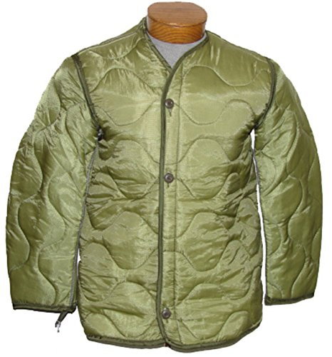 Military Outdoor Clothing Previously Issued U.S. G.I. Nylon M-65 Coat Liner, Large