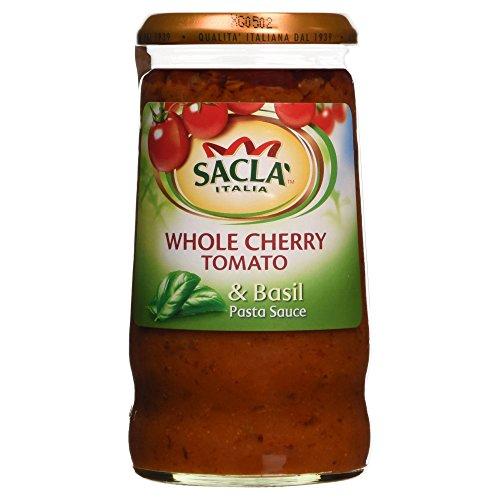 Sacla Italia Whole Cherry Tomaten & Basilikum Pasta Sauce 350g