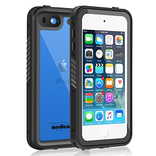 Waterproof Case for iPod 7/ iPod 6/iPod 5, Meritcase Knight Series Waterproof Shockproof Dirtproof Snowproof Case Cover with Kickstand for Apple iPod Touch 5th/6th/7th Generation for Snorkeling