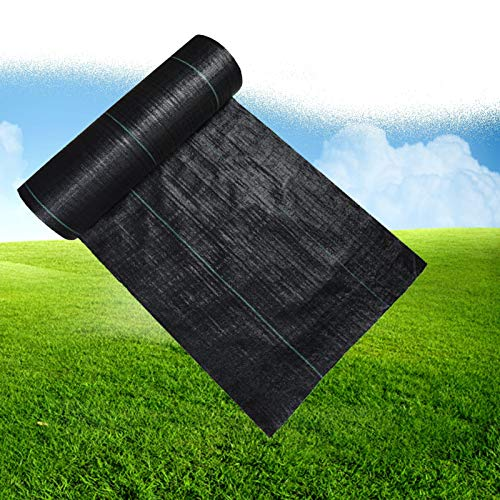 MAHFEI Weed Membrane, Heavy Duty Ground Cover Membrane UV Stabilised Weed Suppressant Membrane For Garden, Landscaping Weed Control Fabric Water Permeability Landscape Ground Barrier Cover