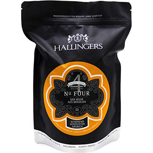 Hallingers Gourmet-Kaffee aus Brasilien, schonend langzeit-geröstet (500g) - No. Four (Aromabeutel) - zu Passt immer