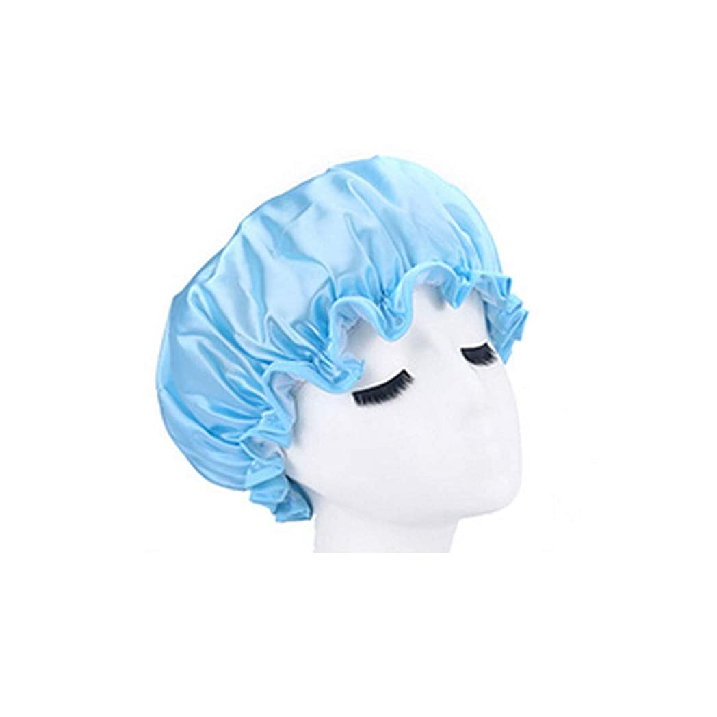 いまと無知シャワーキャップ、レディースシャワーキャップレディース用のすべての髪の長さと太さのデラックスシャワーキャップ - 防水とカビ防止、再利用可能なシャワーキャップ。 (Color : 3)