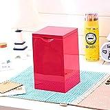 1yess Pequeña Basura de Basura Puede Cubrir el Moderno de la Mesa de Escritorio del Dormitorio del Dormitorio Simple Mini Sundies Cubo 19x11.5cm Poder de Basura (Color: Amarillo) (Color : Pink)