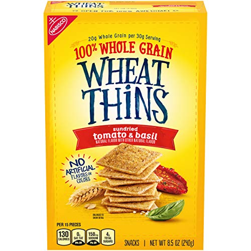 Wheat Thins Sundried Tomato & Basil Whole Grain Wheat Crackers, 8.5 Oz, 1Count -  Mondelēz International