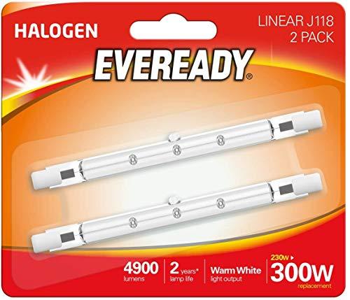 3 lampadine alogene ECO 230 W (equivalente 300 W), confezione da 2, R7s, 300 W