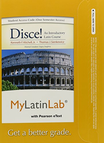 MyLab Latin with Pearson eText -- Access Card -- for Disce! An Introductory Latin Course (one semester access)