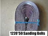 F-MINGNIAN-TOOL, 10 Piezas 50x1220mm A/S abrasivo Bandas abrasivas 2'* 48' P40-1000 Grueso a Fino, Lijado con Cinta Amoladora Accesorios (Grit : Mix)