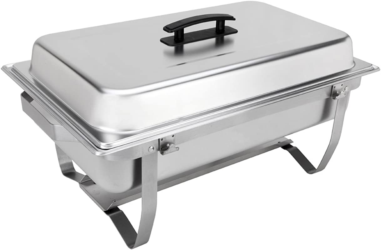 Sterno Products 70153 Foldable Frame Buffet Chafer Set 8 Qt 8 Quart Silver