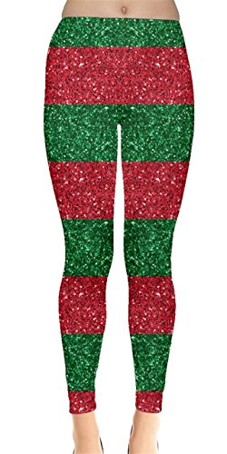 CowCow Womens Xmas Shine Leggings, Xmas - 4XL