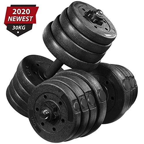 MOVTOTOP Juego de mancuernas de 30 kg,juego de pesas con