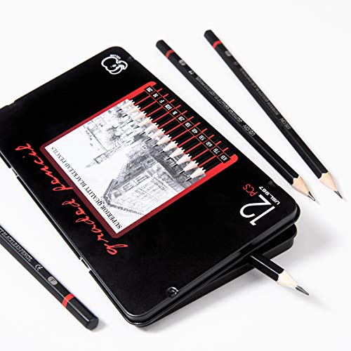 Professional Drawing Sketching Pencil Set - 12 Pieces Art Drawing Graphite Pencils(8B - 2H), Ideal for Drawing Art, Ideal for Drawing Art, Sketching, Shading, for Beginners & Pro Artists Photo #5