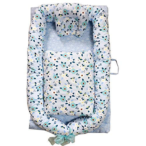 Great Features Of Portable Crib Baby Portable Lounger Infant Bassinet Reversible Co Sleeping Cribs f...