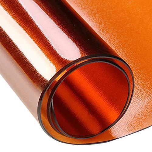 ZZFF Protector De Mesa De PVC De 2 Mm De Espesor, Plastico Vinilo Cubierta De La Mesa Rectangular Impermeable Mantel De Wipeable para Mesa De Comedor Escritorio-Brown 80x80cm(31x31inch)