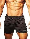 AURION BLACK-SHORTS-1313(36) Lycra-Spandex Fitness Gym Short, Workout Short, Cycling Short, Sport...