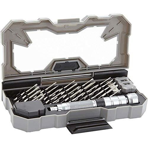 KJRJWX 28PCS de Destornilladores de precisión, S2 aleación de Acero Ligero portátil - Apto for teléfono móvil, cámara, Ordenador portátil y Reparación de Relojes