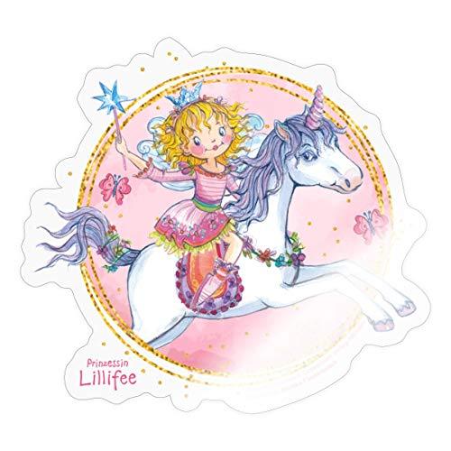 Prinzessin Lillifee Reitet Auf Einhorn Rosalie Sticker, One Size, Transparent glänzend