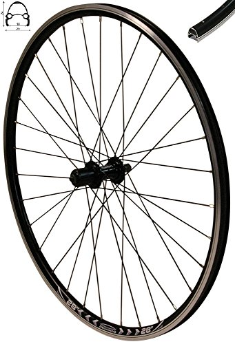 Redondo 28 Zoll Hinterrad Laufrad Hohlkammer V-Profil Felge für Kassette Schwarz