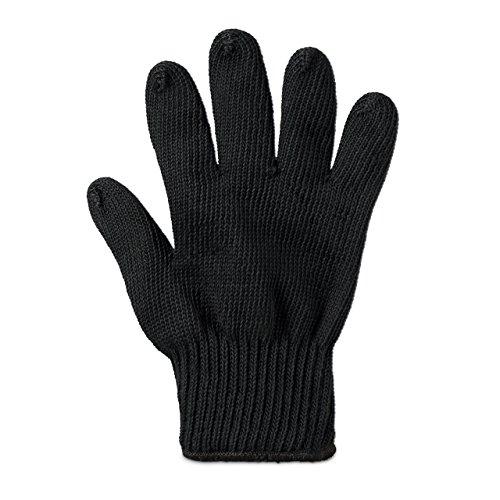 Relaxdays Hitzeschutzhandschuh für Grill und Ofen aus feuerbeständigen Aramidfasern in Universalgröße für Links- und Rechtshänder geeignet als temperaturbeständiger Hitze-Schutz-Handschuh, schwarz