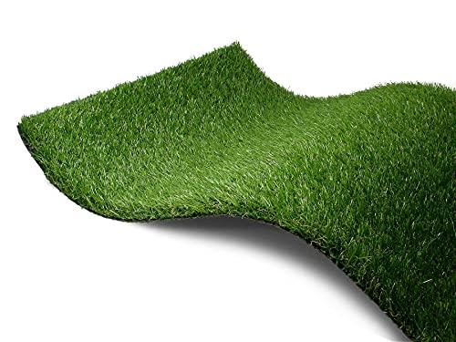 Kunstrasen Rasen-Teppich Meterware - WOODLAND, 2,00m x 0,50m, Hochwertiger, UV-Beständiger, Wasserdurchlässiger Outdoor Bodenbelag für Balkon, Terrasse und Garten