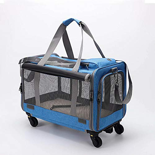 CHENSQ Pet dog cat and dog stroller, good air permeability, stable pet travel wheeled stroller